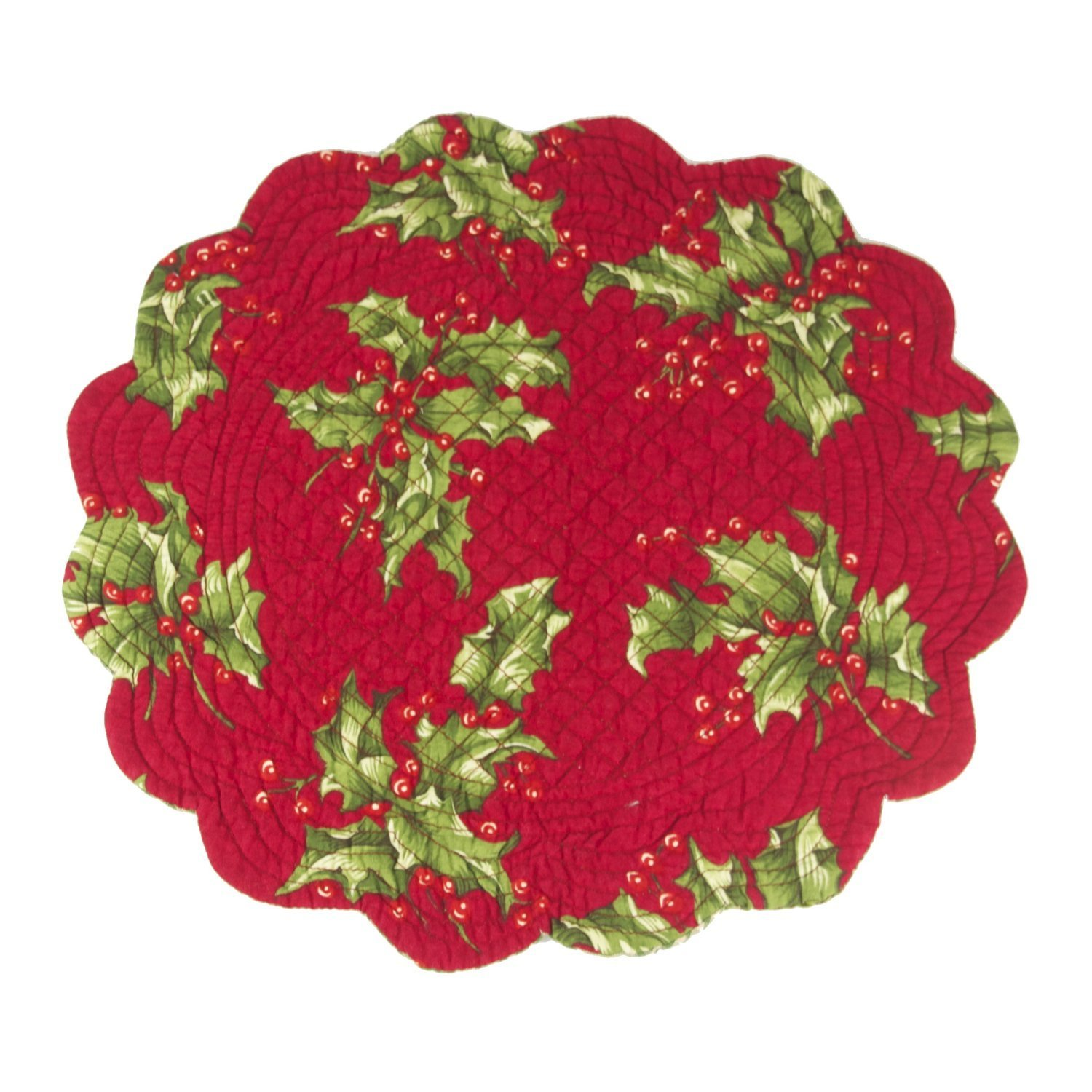 17 Best Images About Transfer Size Placement On: Round Quilted Placement In Holly Red