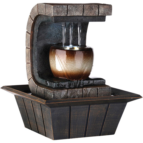 "ORE International 9.75"" Meditation Fountain with LED Light"