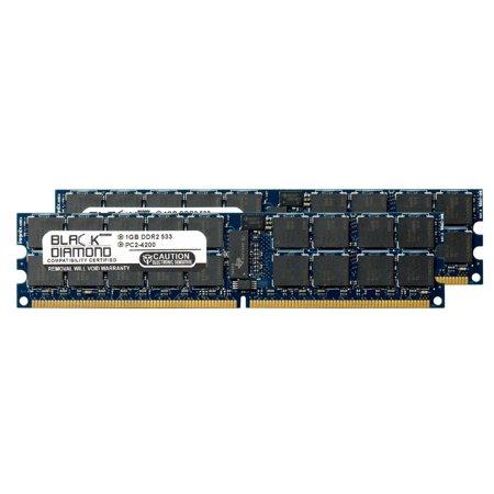 T2000 Server (2GB 2X1GB Memory RAM for Sun Netra T2000 Server DDR2 ECC Registered RDIMM 240pin PC2-4200 533MHz Black Diamond Memory Module)