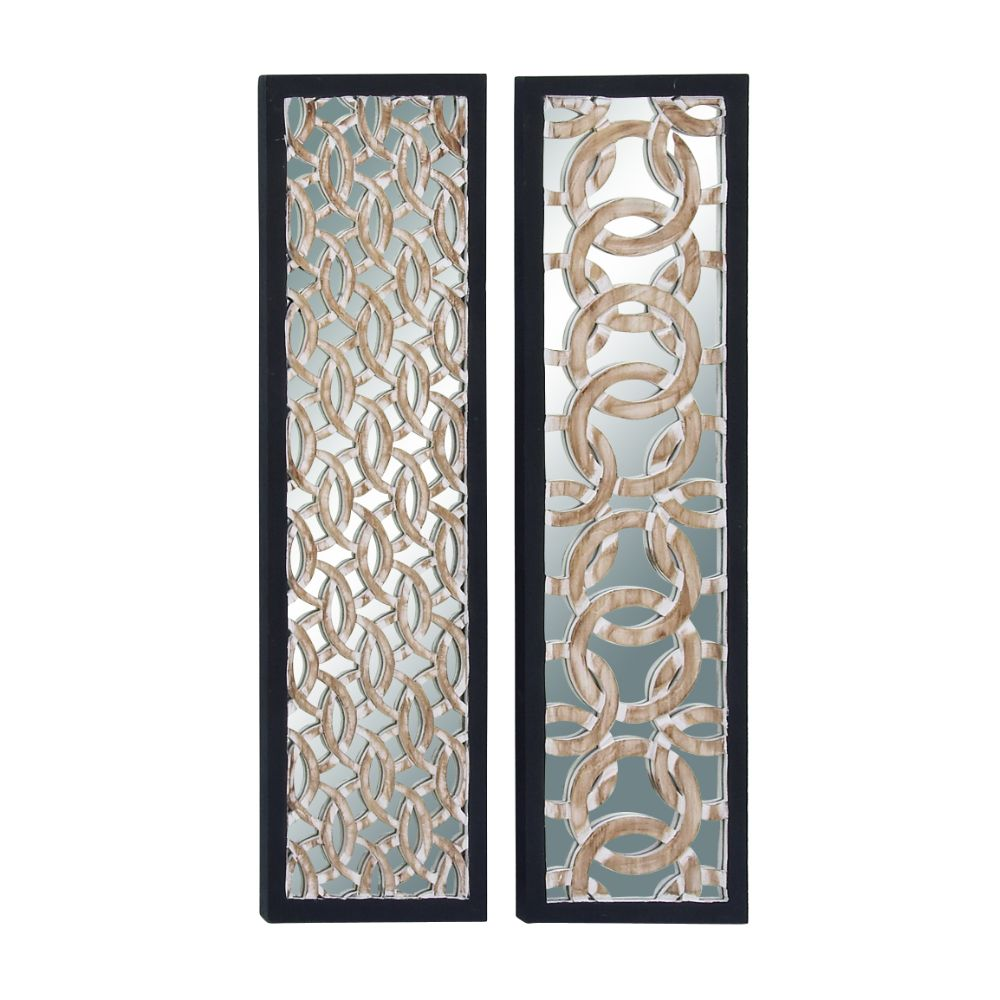 Outstanding Wood Mirror Panel 2 Assorted