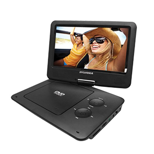 Sylvania SDVD9020C-BLACK 9-Inch Swivel Screen Portable DVD/CD/MP3 Player - Manufacturer Refurbished