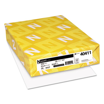 Exact Index Card Stock, 110lb, 94 Bright, 8 1 2 x 11, White, 250 SHeets, Sold as 1 Package, 250 SHeet per... by NEENAH PAPER