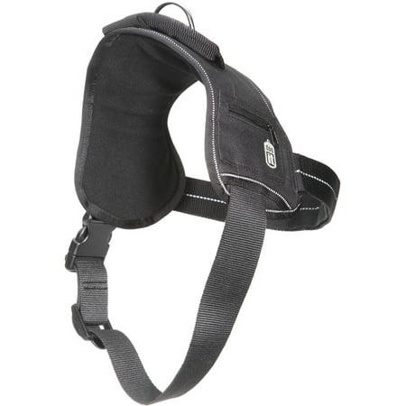 Dogit Harness with Fluor Print Logo, SM, Black