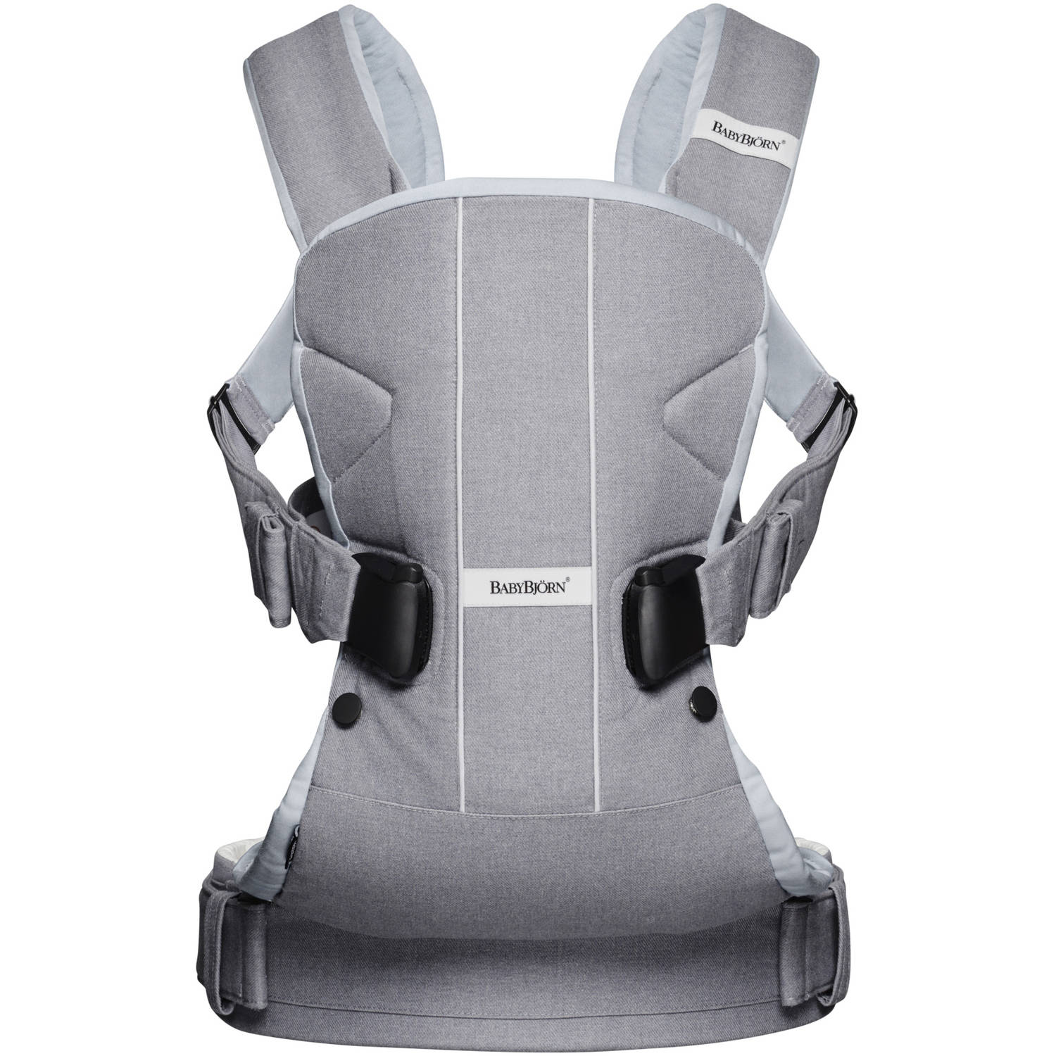 BabyBjorn Baby Carrier One, Little Gray Seal, Cotton Mix by BabyBj%C3%B6rn