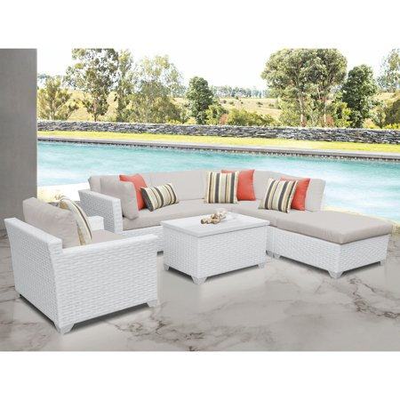 Magnificent Tk Classics Monaco 7 Piece Outdoor Wicker Patio Conversation Set With Ottoman And Club Chair Cjindustries Chair Design For Home Cjindustriesco