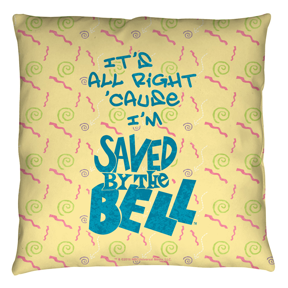 Saved By The Bell All Right Throw Pillow White 20X20