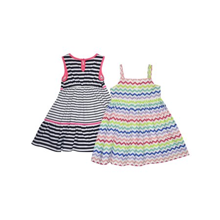 Girls' Stripe And Chevron Dresses 2-Pack Set (Girls And Dresses)