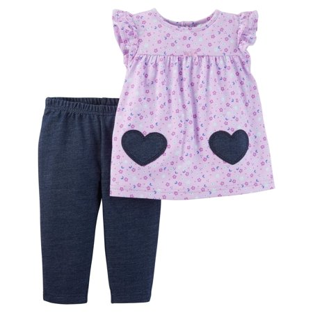 18bd2510b76 Baby Girl Short Sleeve Tunic   Leggings