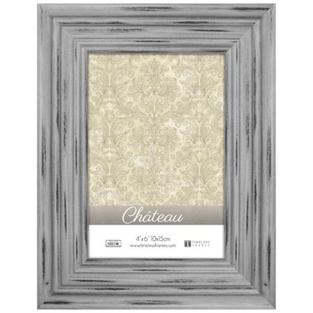 Timeless Frames Chateau Distressed Picture Frame - Light Gray - 4 in x 6 in (Grain Frame)