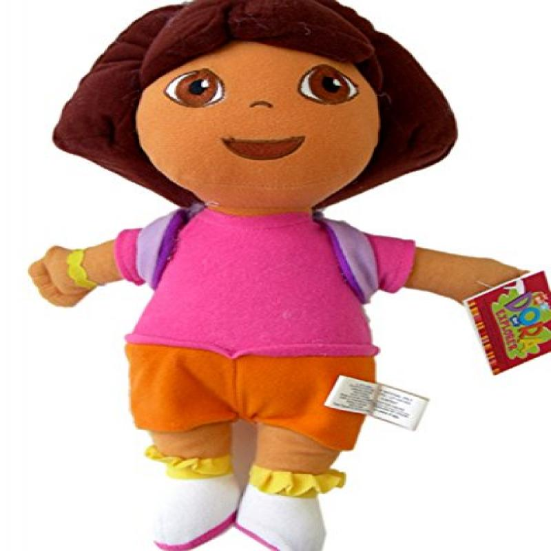 "Dora The Explorer Plush Toy - small 10"" Dora wearing Mr Backpack"