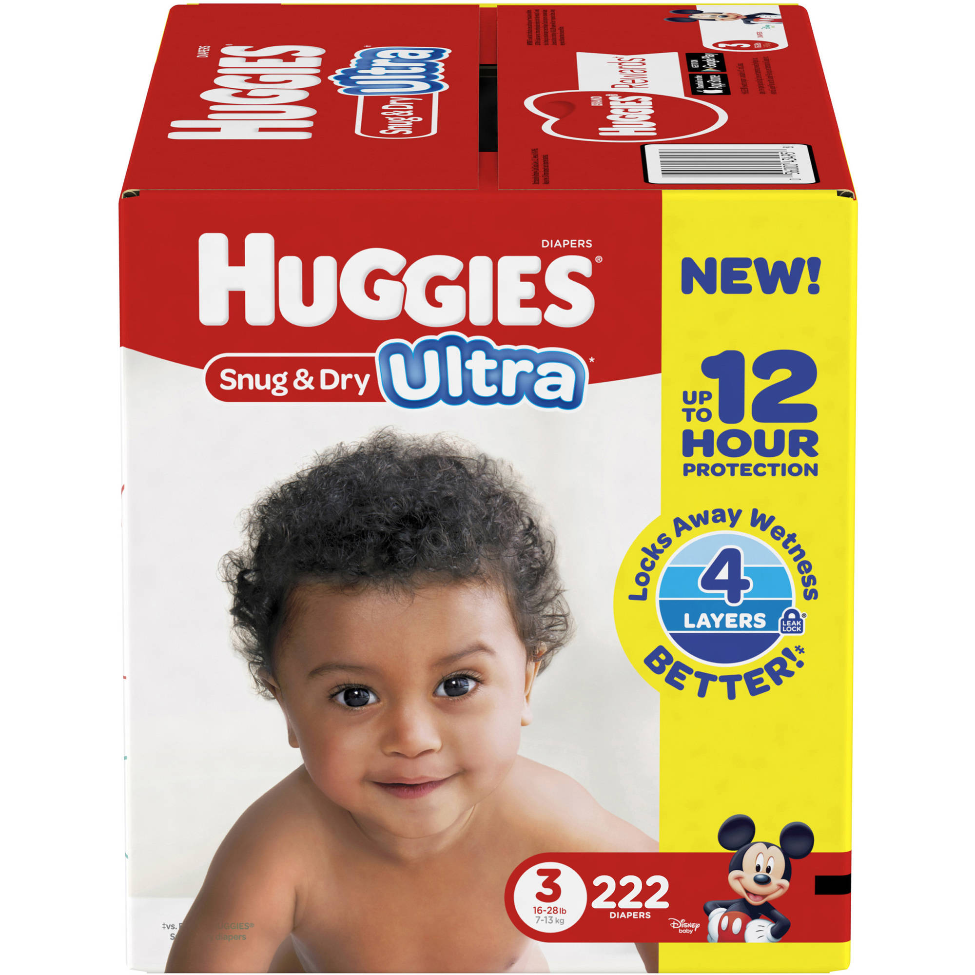 HUGGIES Snug & Dry Ultra Diapers, Size 3 (Choose Diaper Count)