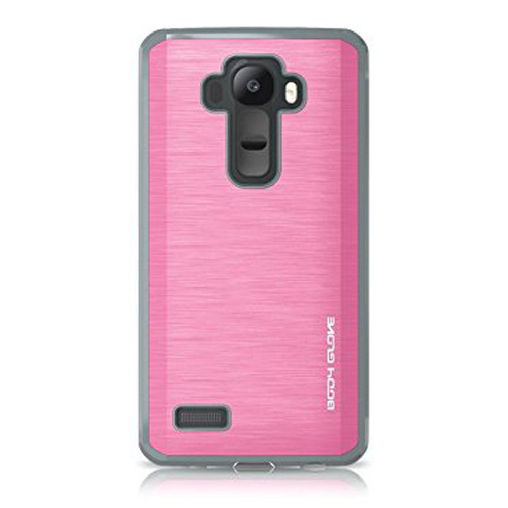 LG Case, Glossy Protective Cover Shockabsorbant Lightweighted Anti Scratch Cover for LG G4 - Pink/ Grey
