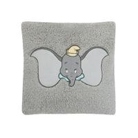 Disney Dumbo Grey, Aqua, Yellow Appliqued Decorative Pillow