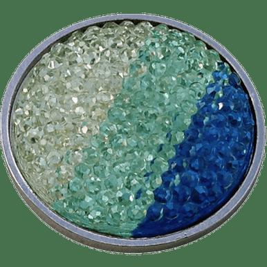 Crystal Hour Markers (ReadyGolf - Rhinestone Crystal Ball Marker - Blue, Aqua & White)