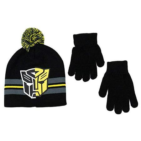 Beanie Cap - Transformers - Autobots Logo Black Set w/Glove Logo Hobbies Cap