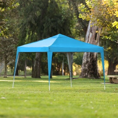 Best Choice Products 10x10ft Outdoor Portable Lightweight Folding Instant Pop Up Gazebo Canopy Shade Tent w/ Adjustable Height, Wind Vent, Carrying Bag - Light Blue