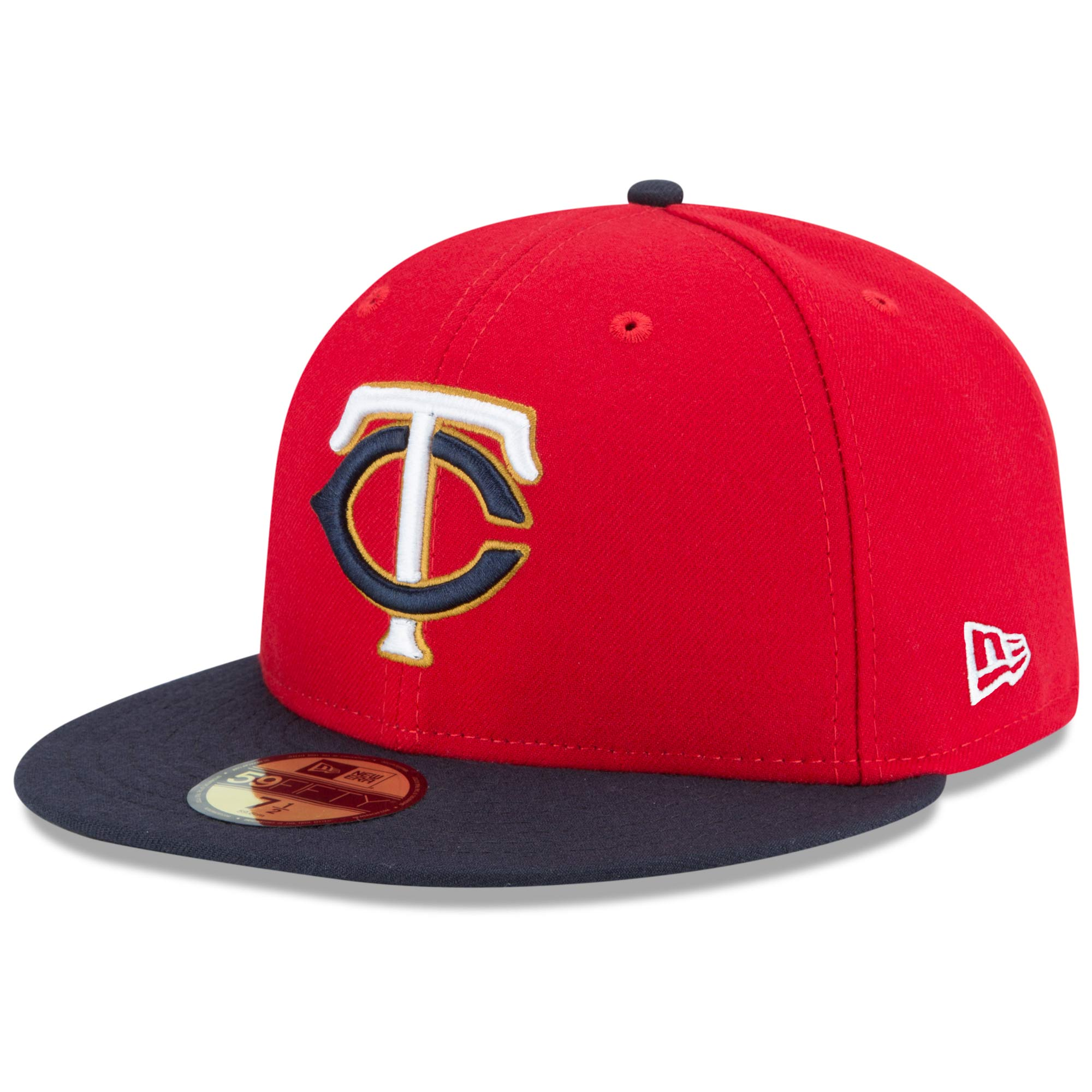 Minnesota Twins New Era Alternate 2 Authentic Collection On-Field 59FIFTY Fitted Hat - Red/Navy
