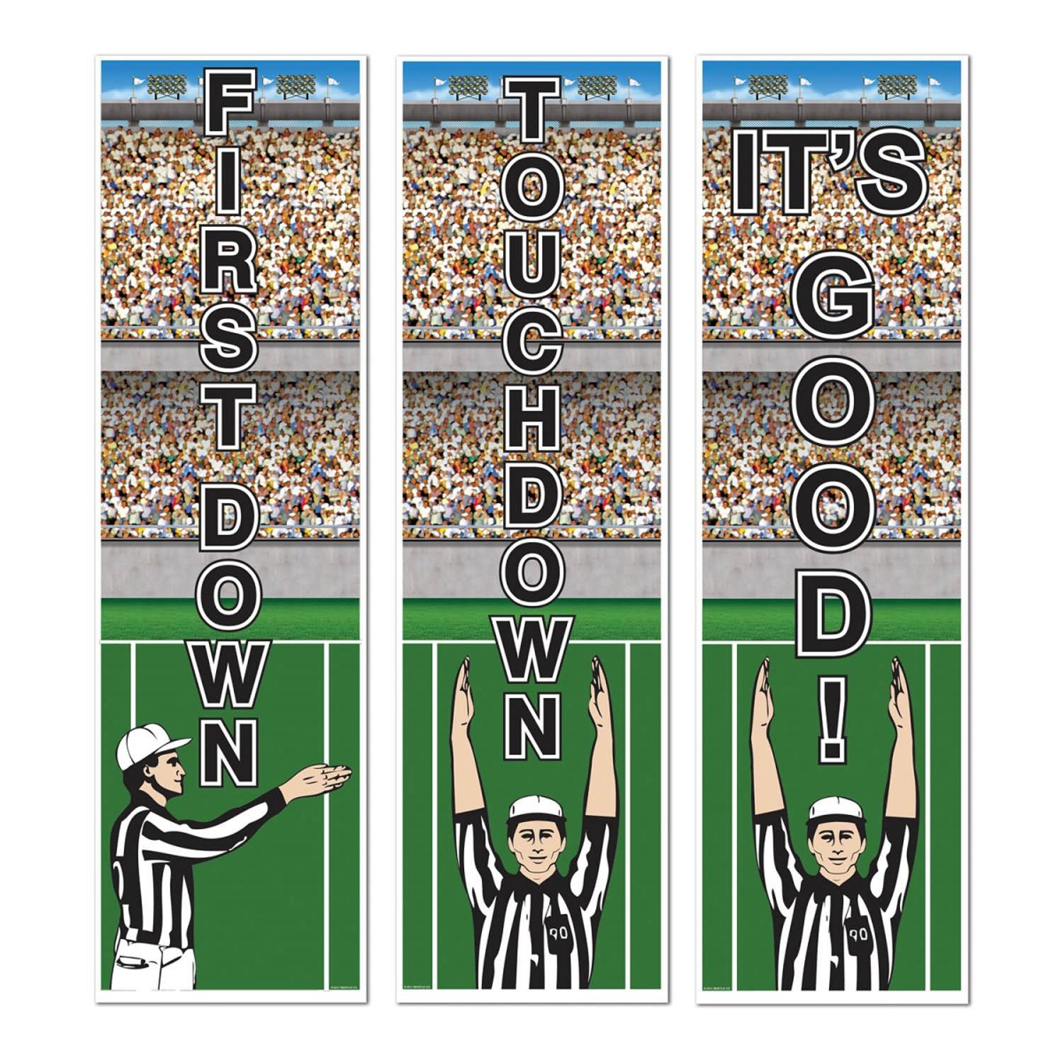 Club Pack of 36 Football Referee Sports Themed Cutout Party Banners 20""