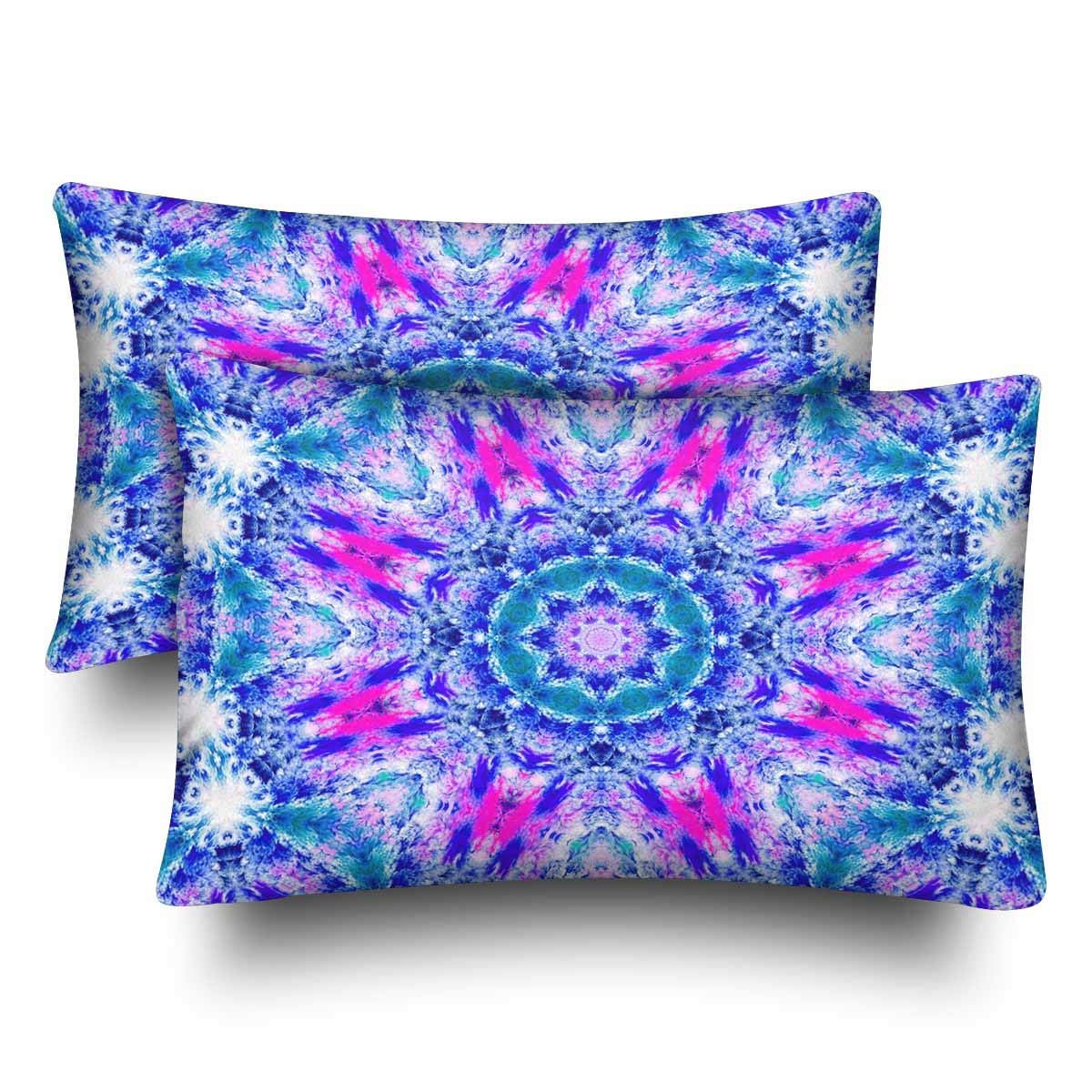 GCKG Abstract Floral Colorful Tie Dye Pillow Cases Pillowcase 20x30 inches Set of 2 Pillow Covers Protector - image 4 of 4