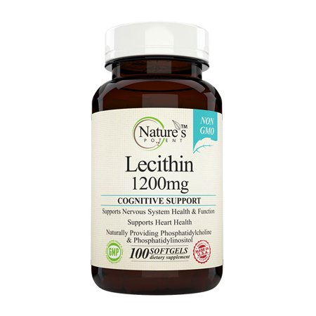 Potency Lecithin - Nature's Potent™- Lecithin 1200 mg, Non-GMO Supplement