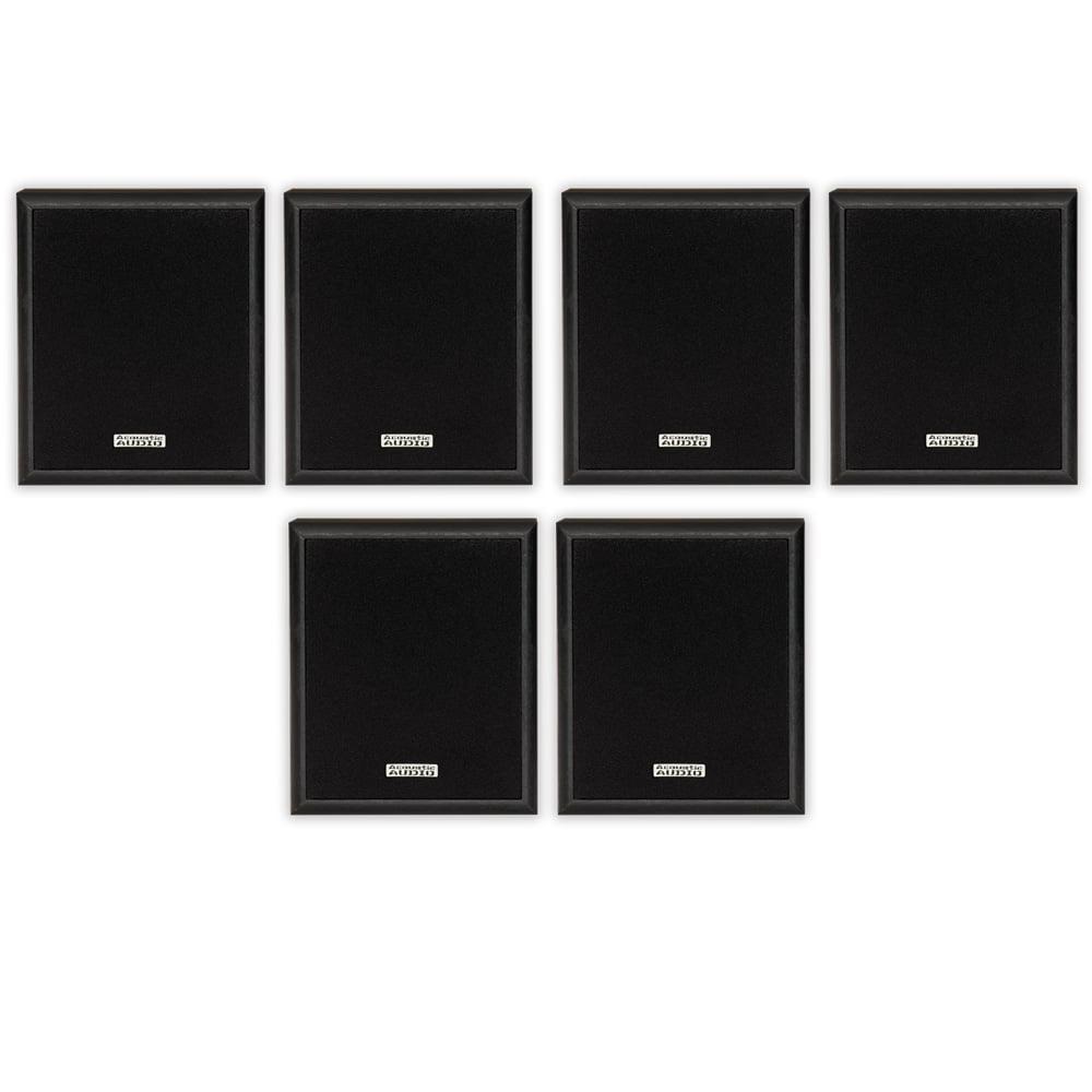 Acoustic Audio RW-SP3 Bookshelf Speakers 300 Watt 2 Way Home Theater Audio 3 Pair Pack