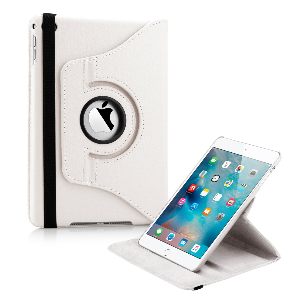 360 Degree Rotating PU Leather Cover Smart Case Swivel Stand for Apple iPad Mini 4