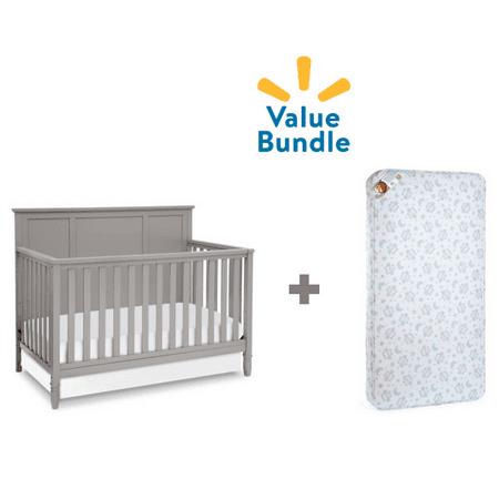 Delta Children Epic Crib + Mattress Value Bundle ()