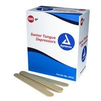"Dynarex Tongue Depressors - #4312, Non-sterile 6"" Wood, (500 Per Box - 10 Boxes) MS85510"