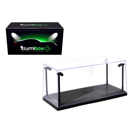 Collectible Display Show Case with LED Lights and Black Base for 1/24 1/18  Models by