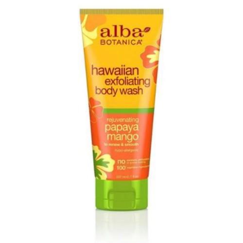 Alba Botanica Hawaiian Exfoliating Rejuvenating Papaya Mango Body Wash, 7 fl oz
