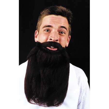 Mustache Beard Brown 14In Accessory - Beards Mustaches