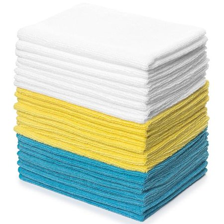 - Zeppoli Reusable Microfiber Cleaning Cloth Set - 12 x 16 Inch - 24 Pack