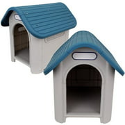 """UsaWorld Sales Indoor/Outdoor Weather-Resistant Dog House, Medium, 24""""x30""""x26"""""""