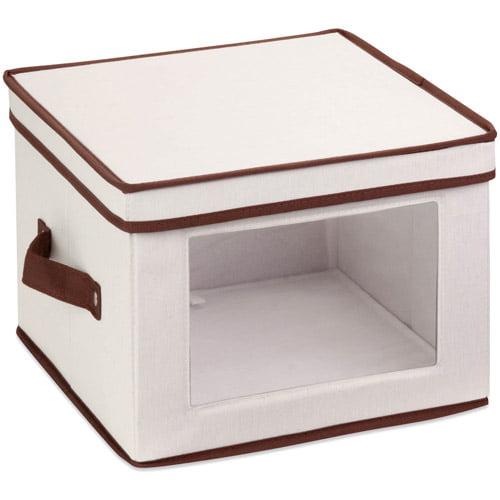Honey-Can-Do Natural Canvas Window Storage Box, Medium