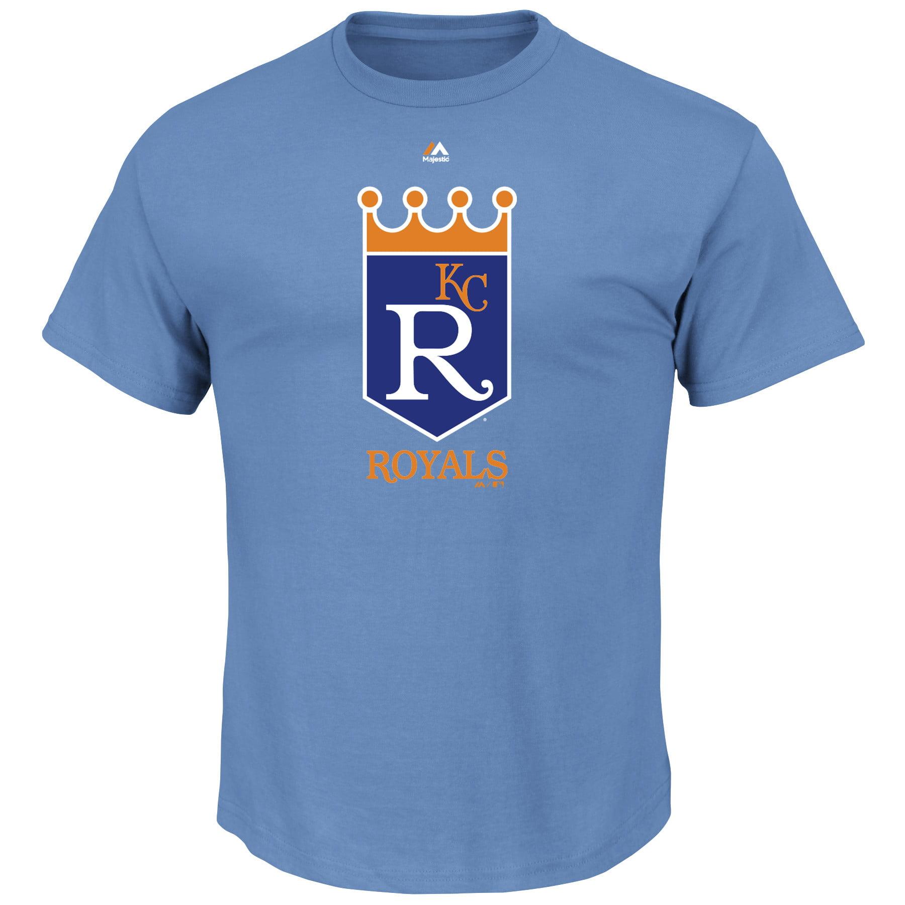 Kansas City Royals Majestic Cooperstown Logo T-Shirt - Light Blue