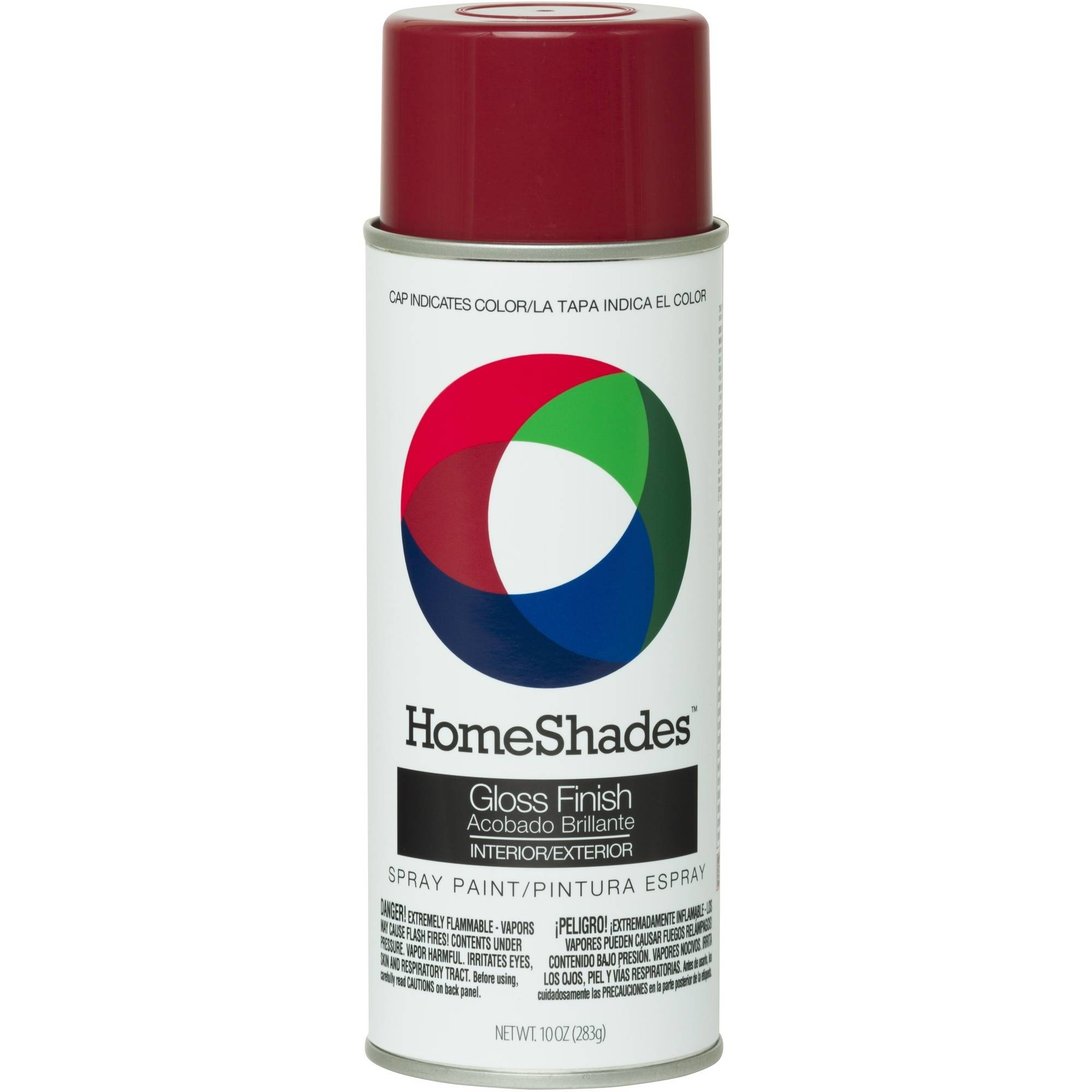 (2 pack) ColorPlace Gloss Spray Paint, Fire Red