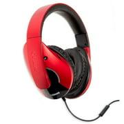 Oblanc OG-AUD63072 Dual Driver Speaker Headphones, Red