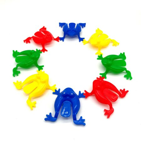24Pcs Plastic Jumping Leap Frog Toy for Kids For Kids Playing Parties Gifts Party Favors Birthday (Random)