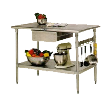 Stainless Steel Kitchen Work Table Island Cucina Forte 48 In X 30