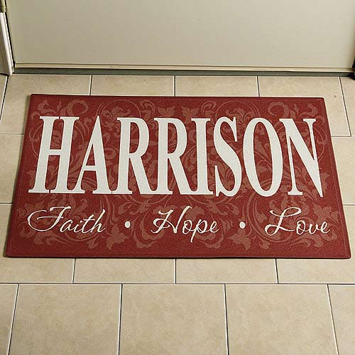 "Personalized Doormat 17"" x 27"""