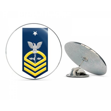 US Navy Senior Chief Gold E-8 Aerographers Mate AG  Military Veteran USA Pride Served Gift Metal 0.75