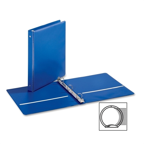 Cardinal Brands, Inc EconomyValue Round-ring Binders, w/ 2 Pockets, 1'' Cap., Medium Blue
