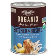 Castor & Pollux Organix Butcher & Bushel Grain Free Organic Canned Dog Food 12 count 12.7 oz Shredded Chicken