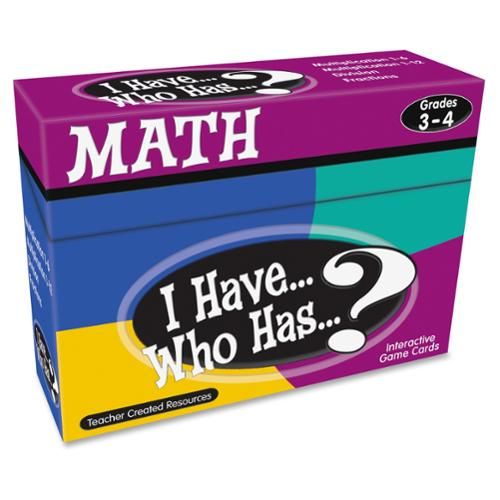 Teacher Created Resources I Have, Who Has Math Game Grade 3-4 - Educational (tcr-7819)