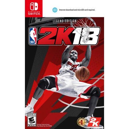 c4c90631d7d1 NBA 2K18 Legend Edition, 2K, Nintendo Switch, 710425459559 - Walmart.com