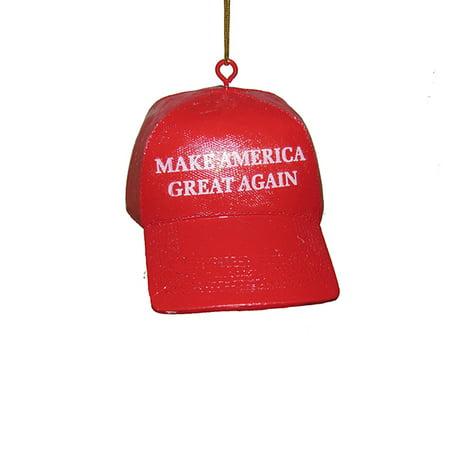 American Christmas Ornament - Kurt Adler 3.625-Inch Make America Great Again Hat Christmas Ornament
