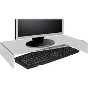 Kantek Acrylic Monitor Stand with Keyboard Storage, Clear