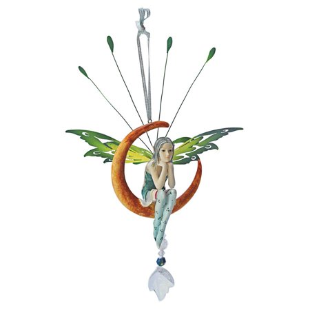 Pewter Fairy Sculpture (Design Toscano Lochloy House Crescent Fairy Dangling)