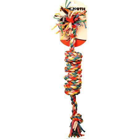 Mammoth Flossy Chews Monkey Fist Bar Rope Dog Toy, Large, 18