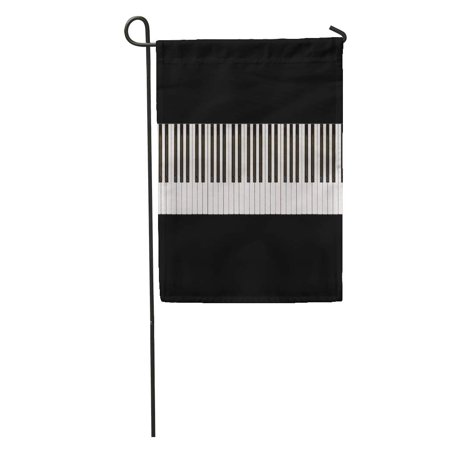 POGLIP Music Piano Keys 76Keys Artistic Black Classic Classical Ebony Entertainment Garden Flag Decorative Flag House Banner 28x40 inch - image 2 of 2